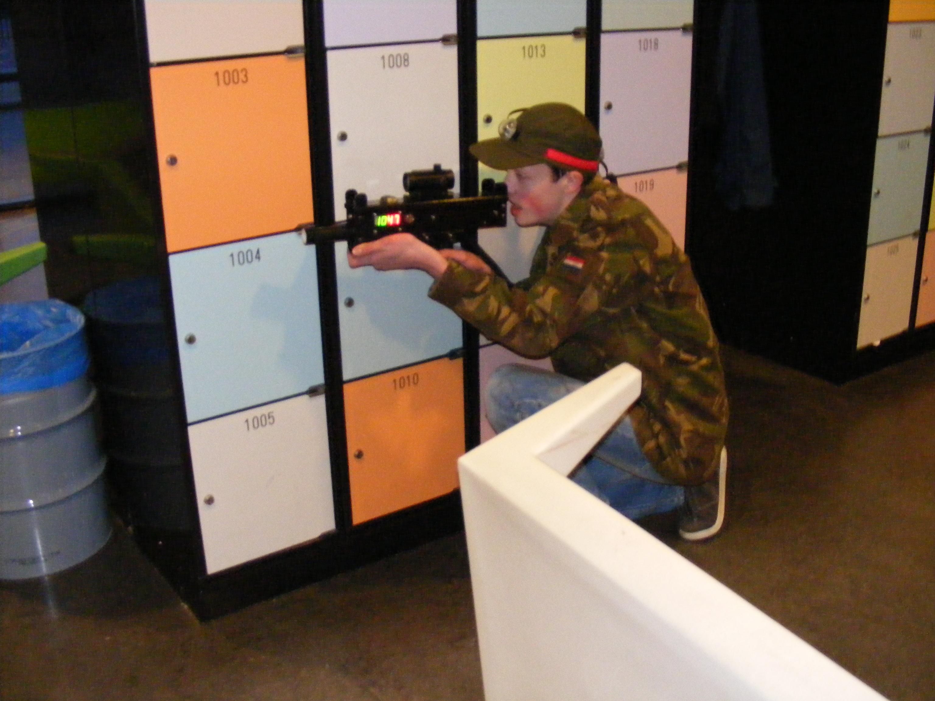 Lasergamen op locatie indoor