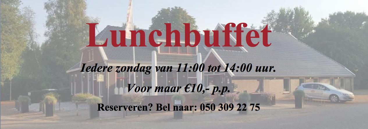 Restaurant Drenthe Lunchbuffet 't Huys van Bunne